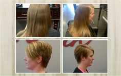 Going from long hair to a short hair cut can be dramatic but it certainly transforms your look and can be easy to maintain.