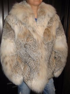 New Fur Coat from Fur of A Lynx Magnificent and Plush Fur Luchs Lince РЫСЬ | eBay