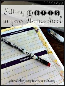 Forever, For Always, No Matter What : Catholic Adoption & Home Education Blog: Setting Goals in Your Homeschool