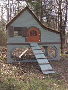LOVE this coop! Sooo cute! Maybe a really large rabbit hutch.