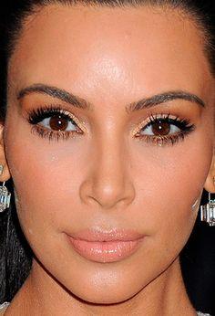 Close-up of Kim Kardashian at the 2015 Met Ball. http://beautyeditor.ca/2015/05/06/met-ball-2015