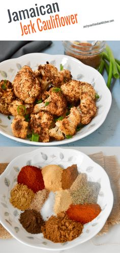 This Jamaican Jerk Cauliflower is made with Jamaican Jerk Seasoning is blend of warming spices and heat is perfectly mingled together in this smoky, earthy combo. Goes well with cauliflower, you can get this vegan, gluten free side dish less than 30 minutes. #simple #jerkseasoning #vegan #glutenfree