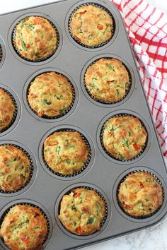Spinach and Cheese Lunchbox Muffins