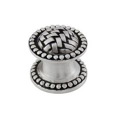 "Vicenza Designs Cestino Mushroom Knob Finish: Vintage Pewter, Size: 1"" H x 1"" W x 1"" D"