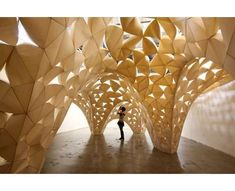 23 Modern Pavilions #architecture trendhunter.com    Origami style structure