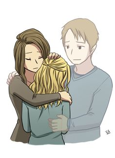 """the100art: anon request : """"Clarke and her parents"""" Click here for more Clexa fanart by this artist."""