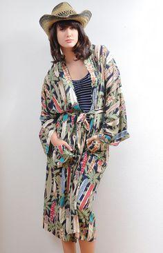 Vintage Reyn Spooner Surfers Dream Kimono Robe SOLD
