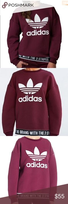 Textured Adidas crew neck Worn twice like new condition. Purchased a medium to have a more oversized look. I'm 5'2. So many compliments on it as well! adidas Sweaters
