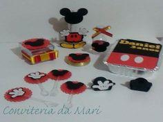 Kit Mickey, tubete, latinha, caixinha, garrafinha, marmitinha, colherzinha, forminhas