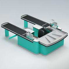 cash counter obj 3d model