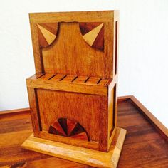 Vintage Knife Holder Inlaid Wood Knife Block Art by ACertainFeel