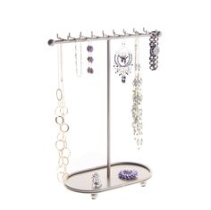 Necklace Holder Organizer Display Tree Stand Storage Rack - Angelynn's Jewelry O for sale online Jewelry Storage Solutions, Jewellery Storage, Jewellery Display, Bracelet Display, Earring Display, Hanging Jewelry Organizer, Jewelry Organization, Necklace Holder, Earring Holders