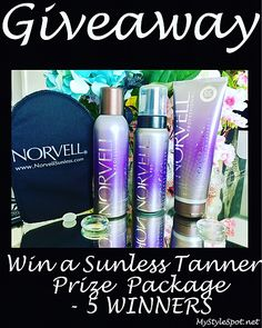 Need a tan for your spring vacation? Enter to #WIN a fabulous self tanning prize pack - a $110 value on my blog! From @norvellsunless 5 WINNERS!! #norvell #sunlesstanner #selftan #norvellsunless #tan #beauty #beautygiveaway #giveaway #sweeps #contest #beautyful #beautyguru #beautyhaul #skincare #skincaremurah #beautytips #beautyqueen #beautyaddict #beautyhaul #beautyblog #beautycare   To see the pic in SelfieMark and like it or comment, tap to get the app - www.selfiemark.com