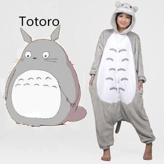 Want to cosplay as Totoro? - This is perfect for any My Neighbor Totoro Lovers! - While Supplies Last! Limit 10 Per Order Please allow 4-6 weeks for shipping Item Type: Onesie Material: Cotton, Spande