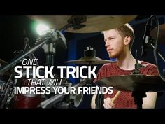 One Stick Trick That Will Impress Your Friends - Drum Lesson - YouTube