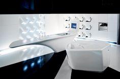 Hasenkopf realisiert die futuristische Küche »Z-Island« nach den Entwürfen von Zaha Hadid für den Corian Hersteller DuPont.