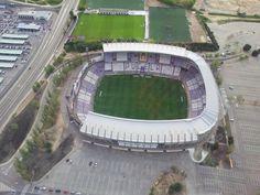 El estadio José Zorrilla, Valladolid, Spain