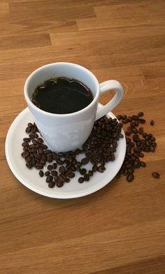 Enjoying a freshly brewed cup of dark roast Arabica coffee!