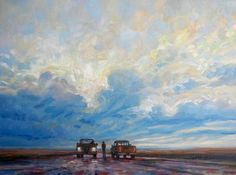 "Steve Coffey - A Rain Visit 30 x 40"" oil/canvas | Featured June 4 - 30, 2013"