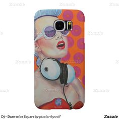 Dj - Dare to be Square Samsung Galaxy S6 Hoesje #pxelartbywolf #zazzle