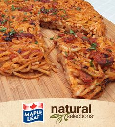 Spaghetti Pizza with Pepperoni #NaturalSelections @Maple Leaf®    I'm going to try this!  I have a boy who detests left overs (simply because they are 'left over') but he loves pizza ... nifty way to make leftovers fun!