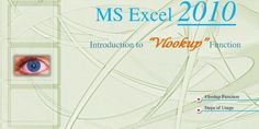 How to Use VLOOKUP Function in Microsoft Excel 2010 - BBALectures.com