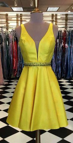c158c8c2b1 cheap homecoming dresses under 2018 short yellow homecoming dresses