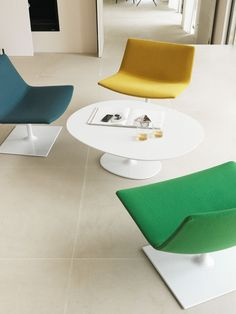 Arper Catifa 80 Lounge Chair. Available in a choice of fabrics, faux leather, leather and bases.