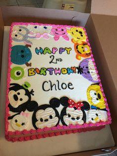 Tsum Tsum birthday cake I live this Husband Birthday, Third Birthday, 3rd Birthday Parties, Birthday Fun, Birthday Ideas, Tsum Tsum Birthday Cake, Tsum Tsum Party, Tsum Tsum Cakes, Disney Birthday