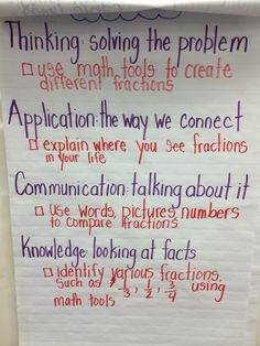 Fractions success criteria