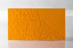 MASS APPEAL LETTERPRESS BUSINESS CARDS by  Rise and Shine Paper