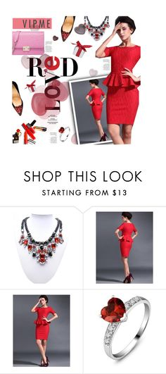 """VIPme.com 10/30 - red love"" by federica-m ❤ liked on Polyvore featuring Christian Louboutin, vintage, women's clothing, women, female, woman, misses, juniors, reddress and vipme"