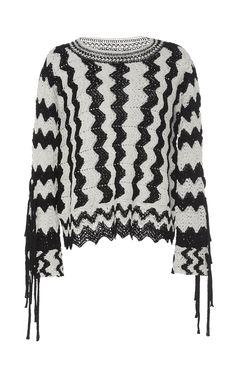 Frequency Fringe Sweater by SPENCER VLADIMIR for Preorder on Moda Operandi