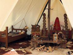 Viking chieftain's tent