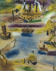 Paul Klee 'Small Harbour Scene' 1919 Oil on paper on board (dimensions unknown)