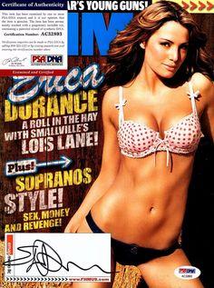 "ERICA DURANCE Signed MAGAZINE ""FHM"" PSA # AC32893"