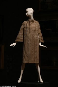 This 1924 travel coat was designed by French designerMadeleine Vionnet...