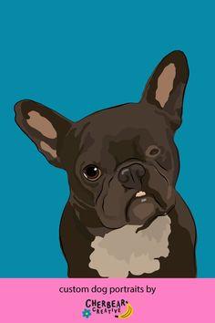Custom Dog Portraits by Cherbear Creative Studio Custom Dog Portraits, Etsy Business, Creative Studio, Dogs, Etsy, Pet Dogs, Doggies