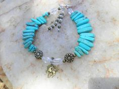 Unique Unicorn and Turquoise Treasure Anklet by SunBurstBeings, $18.00