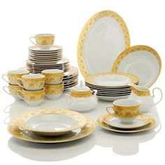 Shop Highgate Manor Camelot Porcelain Dinnerware Set, read and more . Porcelain Dinnerware, Plates, Tableware, Dining Room, Wedding, Licence Plates, Valentines Day Weddings, Dishes, Dinnerware