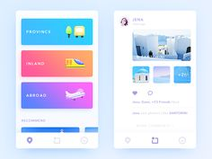 Daily UI #72 It's a Trip App. I like to travel, like santorini, like all the beautiful places. The APP can be classified according to the geographical view resort, depending on the browsing hab...