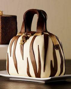 Zebra-Striped Handbag Cake - Neiman Marcus