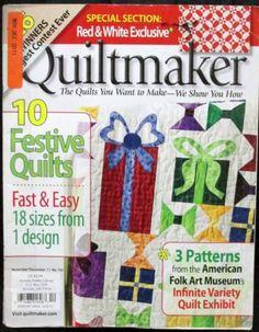 Quiltmaker magazine 2011 November December