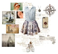 """""""I Want To Travel The World"""" by gingerlilred on Polyvore featuring Forever New, Bling Jewelry, Avery, Daphne, WALL, Jordan Carlyle and Bungalow Flooring"""