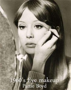 1960′s Eye Makeup Tips – from Sixties model Pattie Boyd
