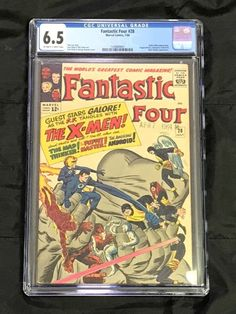 Fantastic Four #28 CGC 6.5 OW to W **Early X-Men Crossover** Marvel Comics 1964