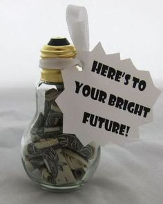 Graduation money gift ideas - Nuggets of Wisdom Creative Gifts, Cool Gifts, Diy Gifts, Creative Things, Awesome Gifts, Fun Things, College Graduation Gifts, College Gifts, Graduation Ideas