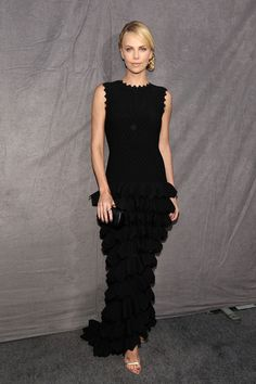 Charlize Theron arrives at the 17th Annual Critics' Choice Movie Awards held at The Hollywood Palladium on January 12, 2012 in Los Angeles, California.