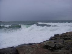 The Maine Building Company...Waves Breaking at Schoodic Point...Acadia National Park...Winter Harbor, Maine