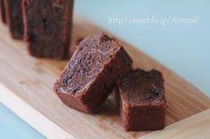 チョコとアーモンドの米粉バターケーキ レシピブログ